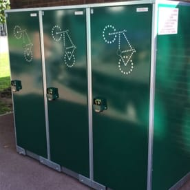 Bicycle Lockers - Secure storage cabinets